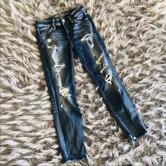 American Eagle Outfitters Denim - AEO Destroyed Crop Jeggings Sz 0